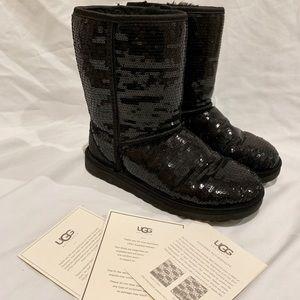 UGG Black Sequin Short Boots